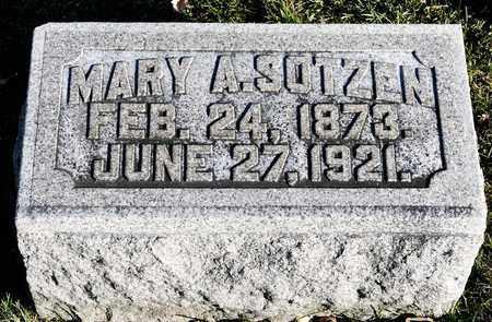 SOTZEN, MARY A - Richland County, Ohio | MARY A SOTZEN - Ohio Gravestone Photos