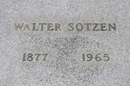 SOTZEN, WALTER - Richland County, Ohio   WALTER SOTZEN - Ohio Gravestone Photos