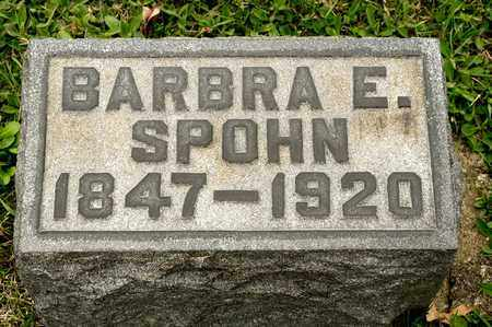 SPOHN, BARBRA E - Richland County, Ohio   BARBRA E SPOHN - Ohio Gravestone Photos