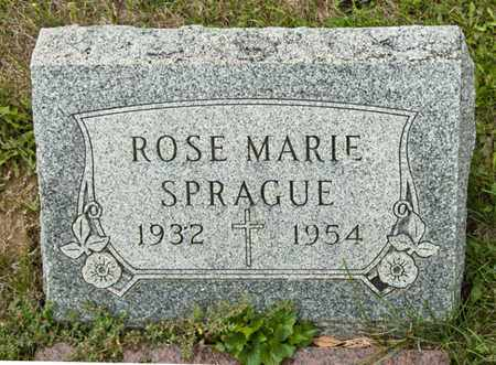 SPRAGUE, ROSE MARIE - Richland County, Ohio   ROSE MARIE SPRAGUE - Ohio Gravestone Photos