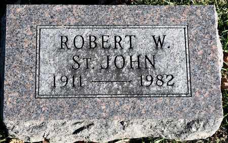 ST. JOHN, ROBERT W - Richland County, Ohio   ROBERT W ST. JOHN - Ohio Gravestone Photos