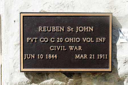 ST JOHN, REUBEN - Richland County, Ohio   REUBEN ST JOHN - Ohio Gravestone Photos