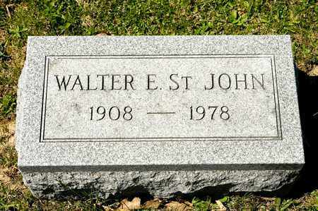ST. JOHN, WALTER E - Richland County, Ohio | WALTER E ST. JOHN - Ohio Gravestone Photos