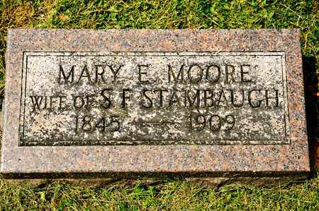 MOORE STAMBAUGH, MARY E - Richland County, Ohio | MARY E MOORE STAMBAUGH - Ohio Gravestone Photos