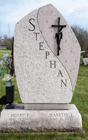 STEPHAN, HENRY E - Richland County, Ohio   HENRY E STEPHAN - Ohio Gravestone Photos