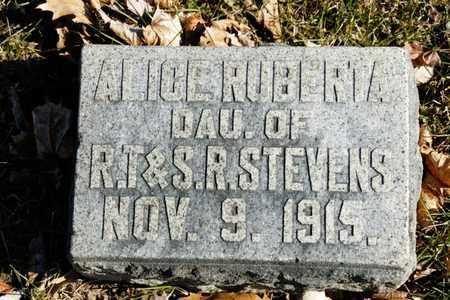 STEVENS, ALICE RUBERTA - Richland County, Ohio | ALICE RUBERTA STEVENS - Ohio Gravestone Photos