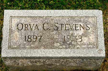 STEVENS, ORVA C - Richland County, Ohio   ORVA C STEVENS - Ohio Gravestone Photos