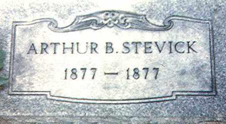 STEVICK, ARTHUR B. - Richland County, Ohio | ARTHUR B. STEVICK - Ohio Gravestone Photos