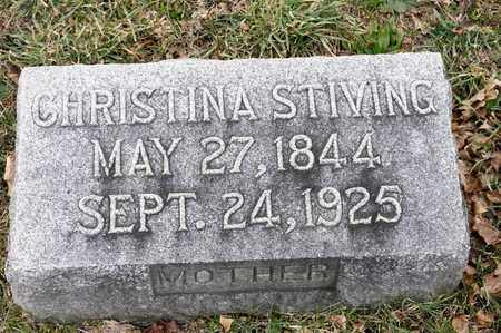 STIVING, CHRISTINA - Richland County, Ohio | CHRISTINA STIVING - Ohio Gravestone Photos