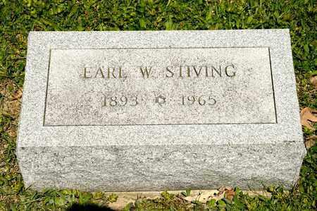 STIVING, EARL W - Richland County, Ohio | EARL W STIVING - Ohio Gravestone Photos