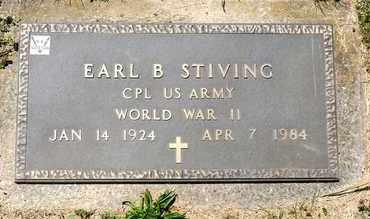 STIVING, EARL B - Richland County, Ohio | EARL B STIVING - Ohio Gravestone Photos