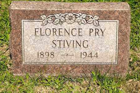 STIVING, FLORENCE - Richland County, Ohio | FLORENCE STIVING - Ohio Gravestone Photos