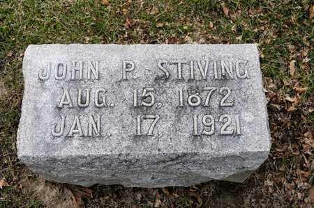 STIVING, JOHN P - Richland County, Ohio | JOHN P STIVING - Ohio Gravestone Photos