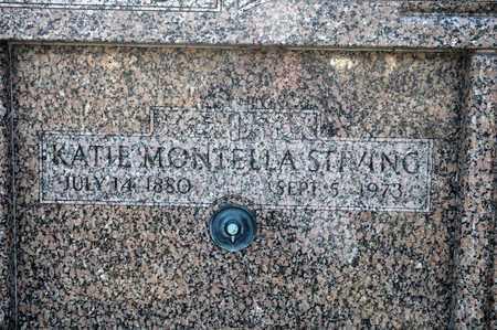 MONTELLA STIVING, KATIE - Richland County, Ohio | KATIE MONTELLA STIVING - Ohio Gravestone Photos
