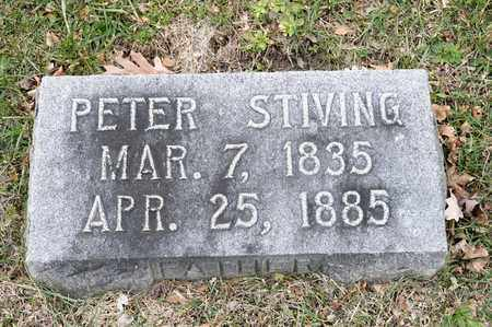 STIVING, PETER - Richland County, Ohio | PETER STIVING - Ohio Gravestone Photos