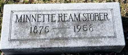 STOBER, MINNETTE REAM - Richland County, Ohio   MINNETTE REAM STOBER - Ohio Gravestone Photos