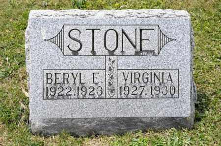STONE, VIRGINIA - Richland County, Ohio | VIRGINIA STONE - Ohio Gravestone Photos
