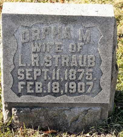 STRAUB, ORPHA M - Richland County, Ohio   ORPHA M STRAUB - Ohio Gravestone Photos
