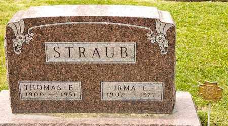 STRAUB, IRMA E - Richland County, Ohio | IRMA E STRAUB - Ohio Gravestone Photos