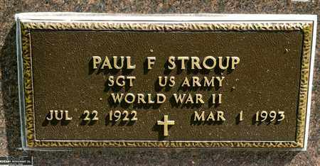 STROUP, PAUL F - Richland County, Ohio | PAUL F STROUP - Ohio Gravestone Photos