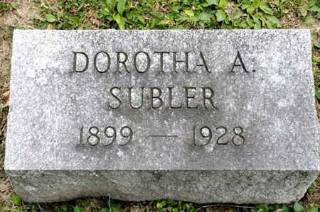 SUBLER, DOROTHA A - Richland County, Ohio | DOROTHA A SUBLER - Ohio Gravestone Photos