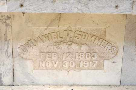 SUMMERS, DANIEL V - Richland County, Ohio | DANIEL V SUMMERS - Ohio Gravestone Photos