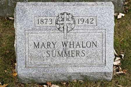 WHALON SUMMERS, MARY - Richland County, Ohio | MARY WHALON SUMMERS - Ohio Gravestone Photos