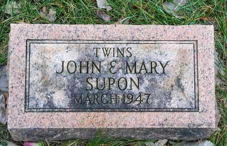 SUPON, MARY - Richland County, Ohio | MARY SUPON - Ohio Gravestone Photos