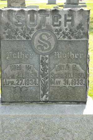 SUTCH, WILLIAM W - Richland County, Ohio | WILLIAM W SUTCH - Ohio Gravestone Photos