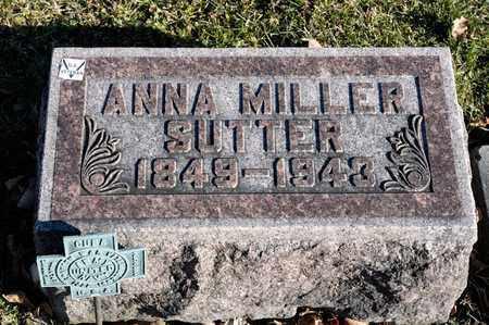 SUTTER, ANNA - Richland County, Ohio | ANNA SUTTER - Ohio Gravestone Photos