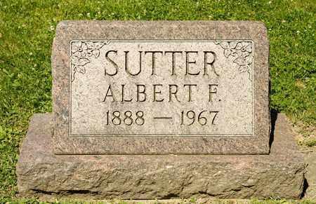 SUTTER, ALBERT F - Richland County, Ohio | ALBERT F SUTTER - Ohio Gravestone Photos