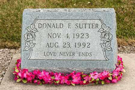 SUTTER, DONALD F - Richland County, Ohio | DONALD F SUTTER - Ohio Gravestone Photos