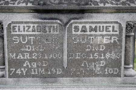 SUTTER, SAMUEL - Richland County, Ohio | SAMUEL SUTTER - Ohio Gravestone Photos