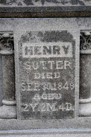 SUTTER, HENRY - Richland County, Ohio   HENRY SUTTER - Ohio Gravestone Photos