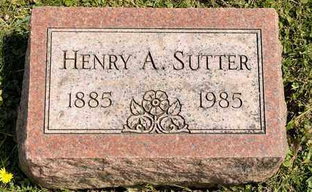 SUTTER, HENRY A - Richland County, Ohio   HENRY A SUTTER - Ohio Gravestone Photos