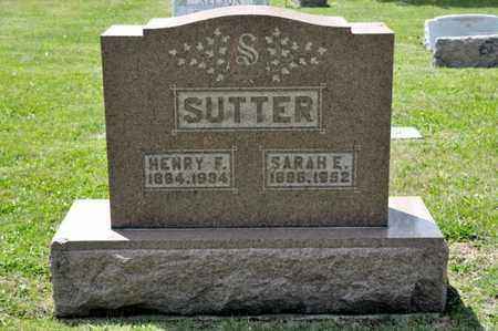 SUTTER, SARAH E - Richland County, Ohio | SARAH E SUTTER - Ohio Gravestone Photos