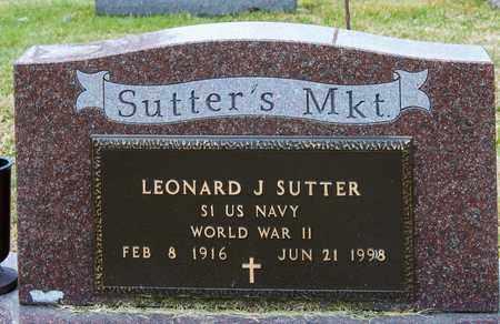 SUTTER, LEONARD J - Richland County, Ohio | LEONARD J SUTTER - Ohio Gravestone Photos