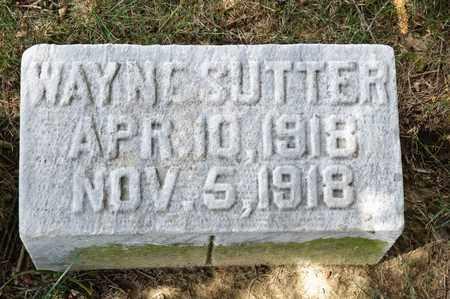 SUTTER, WAYNE - Richland County, Ohio   WAYNE SUTTER - Ohio Gravestone Photos