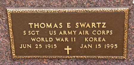 SWARTZ, THOMAS E - Richland County, Ohio | THOMAS E SWARTZ - Ohio Gravestone Photos