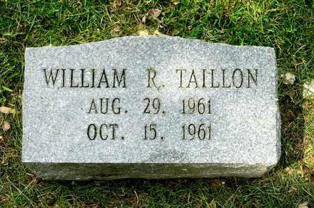 TAILLON, WILLIAM R - Richland County, Ohio | WILLIAM R TAILLON - Ohio Gravestone Photos
