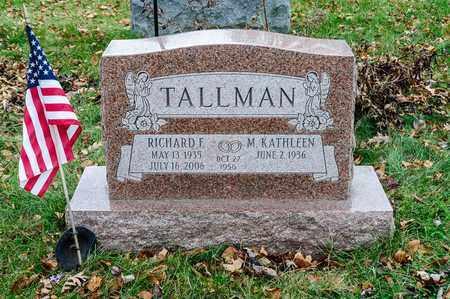 TALLMAN, RICHARD F - Richland County, Ohio | RICHARD F TALLMAN - Ohio Gravestone Photos