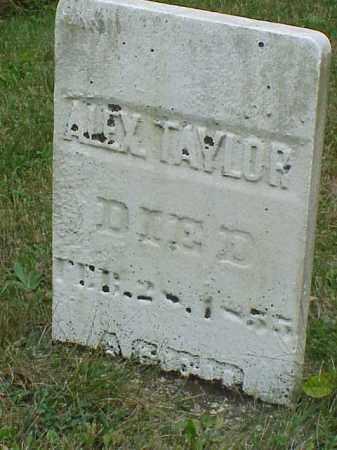TAYLOR, ALEX - Richland County, Ohio | ALEX TAYLOR - Ohio Gravestone Photos