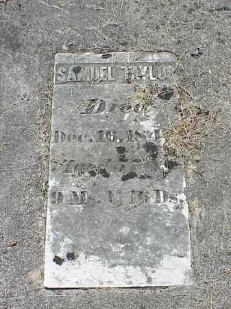 TAYLOR, SAMUEL - Richland County, Ohio   SAMUEL TAYLOR - Ohio Gravestone Photos