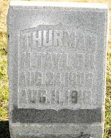 TAYLOR, THURMAN H - Richland County, Ohio | THURMAN H TAYLOR - Ohio Gravestone Photos
