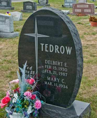 TEDROW, DELBERT E - Richland County, Ohio   DELBERT E TEDROW - Ohio Gravestone Photos