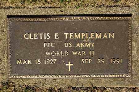 TEMPLEMAN, CLETIS E - Richland County, Ohio   CLETIS E TEMPLEMAN - Ohio Gravestone Photos