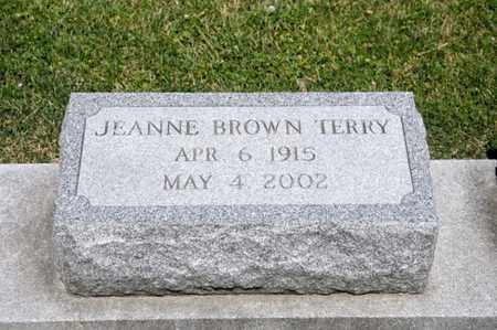 BROWN TERRY, JEANNE - Richland County, Ohio | JEANNE BROWN TERRY - Ohio Gravestone Photos
