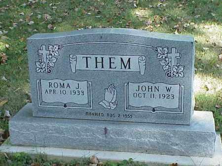 THEM, ROMA J. - Richland County, Ohio | ROMA J. THEM - Ohio Gravestone Photos