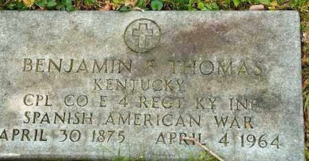 THOMAS, BENJAMIN F - Richland County, Ohio | BENJAMIN F THOMAS - Ohio Gravestone Photos