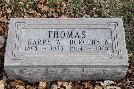 THOMAS, HARRY W - Richland County, Ohio | HARRY W THOMAS - Ohio Gravestone Photos